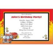 Fire Engine Charlie Personalized Invitations