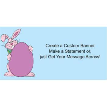 Smiling Easter Bunny Custom Banner