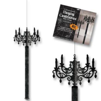 Black Hanging Candelabras