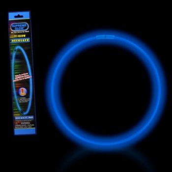 Blue 22'' Retail Pack Glow Necklace