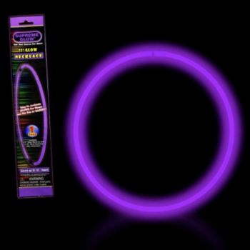 Purple 22'' Retail Pack Glow Necklace