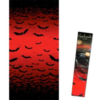 Flying Bats  Red Sky Room Roll