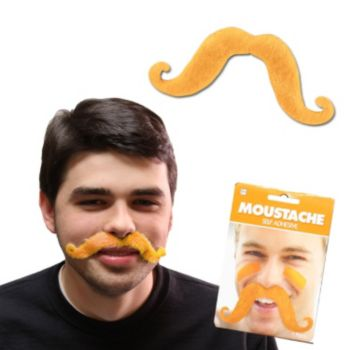 Orange Handlebar Mustache