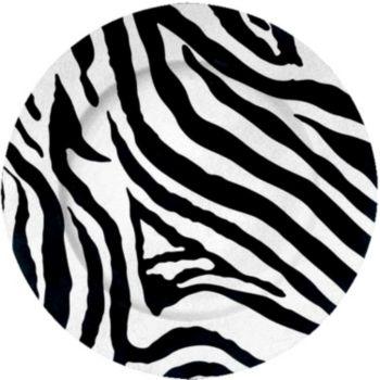 "Zebra Print  13"" Charger"