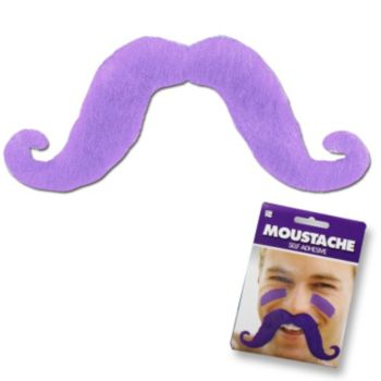 Light Purple Handlebar Mustache
