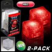 Red LED Lited Ice Cubes - 2 Pack
