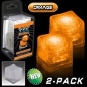 Orange LED Lited Ice Cubes - 2 Pack