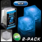 Blue LED Lited Ice Cubes - 2 Pack