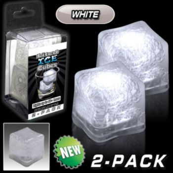 White LED Lited Ice Cubes - 2 Pack