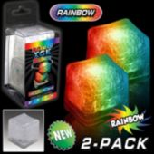 Rainbow LED Lited Ice Cubes - 2 Pack