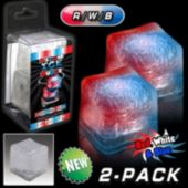 Patriotic Red And Blue LED Lited Ice Cubes - 2 Pack