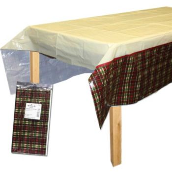 Plaid & Holly  Table Cover