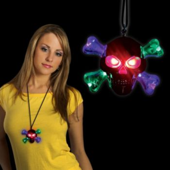 Skull and Crossbones LED Necklace