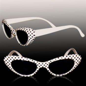 White Polka Dot Funky Sunglasses