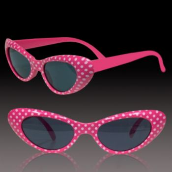 Pink Polka Dot Funky Sunglasses