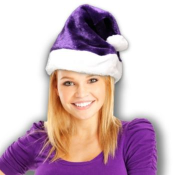 Santa Claus Purple Plush Hat