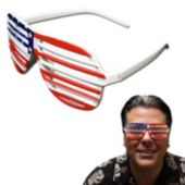 Patriotic Slotted Glasses - 12 Pack