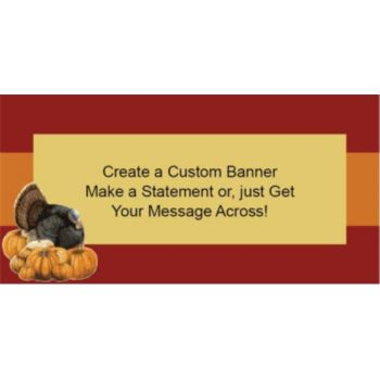Thanksgiving Harvest Custom Banner