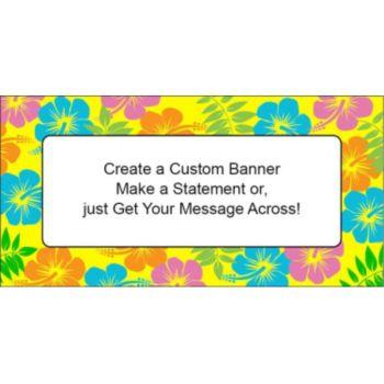 Retro Flowers Custom Banner