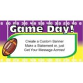Super Sunday Football Yardline Custom Banner