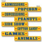 Circus Sign Cutouts-4 Pack