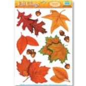 Fall Leaf Window Clings-10 Pack
