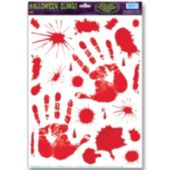 Bloody Hand Print Window Clings
