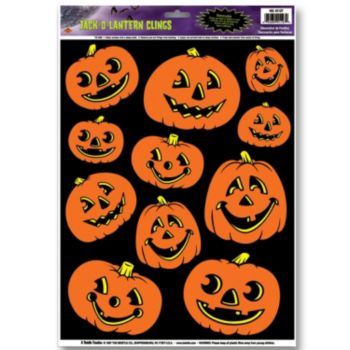 Jack-O-Lantern  Window Clings
