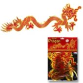 Red & Gold Jointed Dragon Cutout