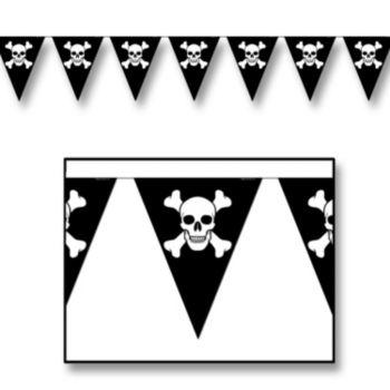 Skull & Crossbones  Pennant Banner