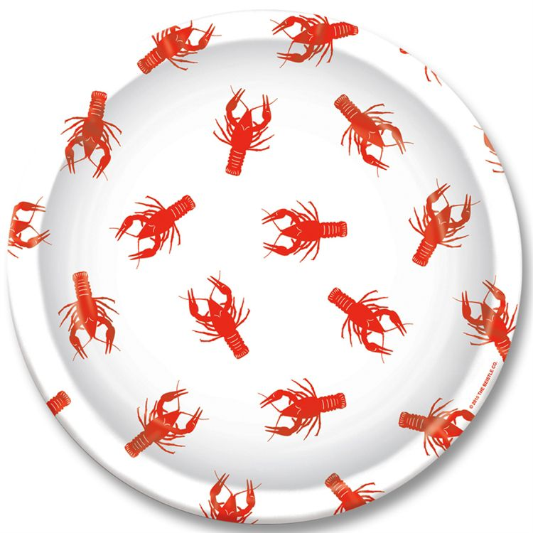 "Crawfish 9"""" Plates - 8 Per Unit"" PAP5795DPUN"