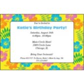 Retro Flowers Personalized Invitations