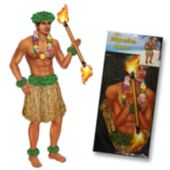 Polynesian Dancer Jointed Cutout