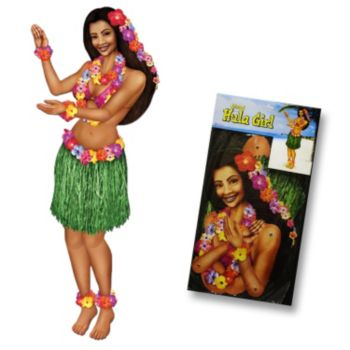 Hula Girl  Jointed Cutout