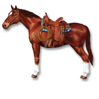 Western Horse  Jointed Cutout