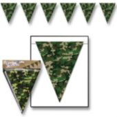 Camouflage Flag Pennant Banner Decoration