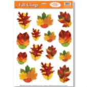Autumn Leaf Window Clings-14 Pack