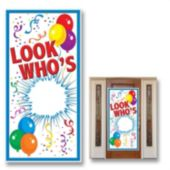 Look Who's Birthday Door Cover