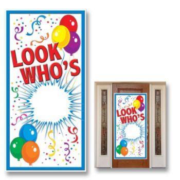 Look Who's Birthday Door Cover