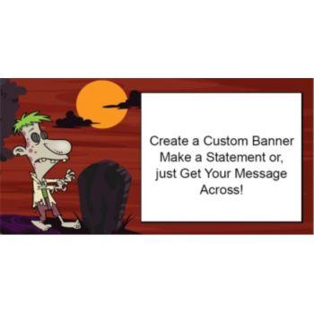 Weird World Night Custom Banner