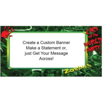 Zombies Survive the World Custom Banner