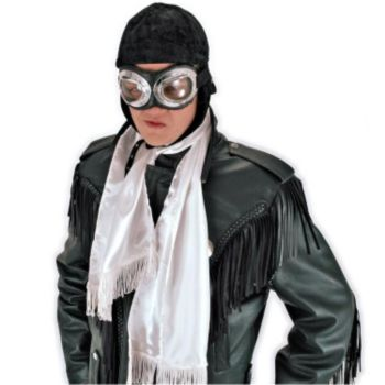 Aviator Scarf White