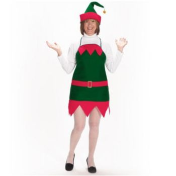 Christmas Elf Apron & Hat Set