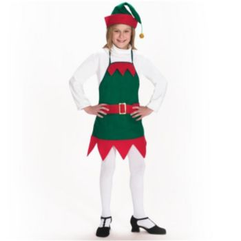 Christmas Elf Child Apron & Hat Set