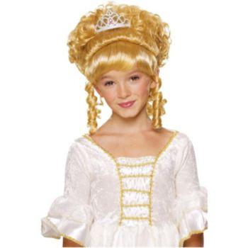 Blonde Child Wig With Tiara