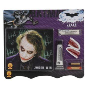 Batman Dark Knight - Deluxe Joker Wig  Makeup Accessory Kit (Adult)