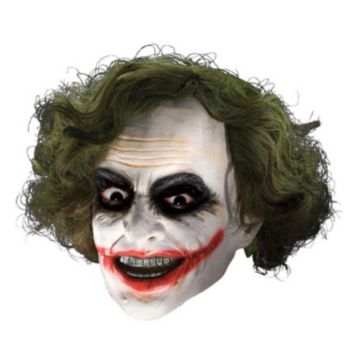 Batman Dark Knight Child Joker 34 Vinyl Mask With Hair