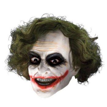 Batman Dark Knight Child Joker 34 Vinyl Mask With Hair