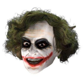 Batman Dark Knight Adult Joker 34 Vinyl Mask With Hair
