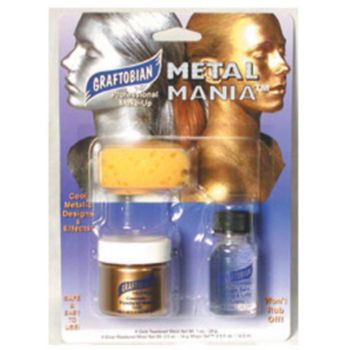 Gold Metal Mania Face Paint Kit